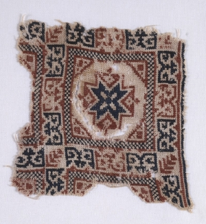 Medieval embroidered textile fragment from Egypt.