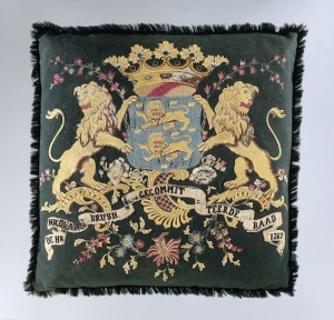 Magistrate's cushion with the West Friesland coat of arms, The Netherlands, 1767.