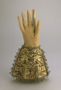 Pair of man's gauntlets from England, early 17th century.