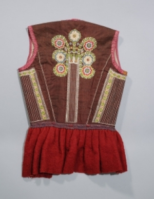 Bridal bodice ('bruidsrijglijf') from the island of Marken, the Netherlands, late 18th century.