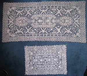 Examples of Madeira lace.
