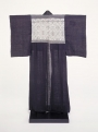 Kimono from northern Japan, made of ramie and with kogin decoration, late 19th - early 20th century.