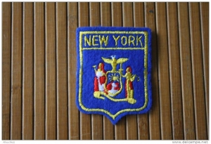 Embroidered blazon for the New York police.