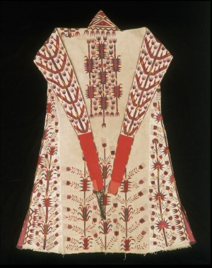 A woman's robe (chyrpy) from the Turkmen, Central Asia.