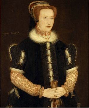 Portrait of Bess of Hardwick, c. 1521-1608, by Hans Ewouts or one of his students.