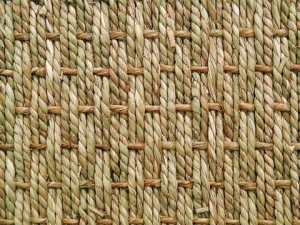 Basketweave of seagrass.