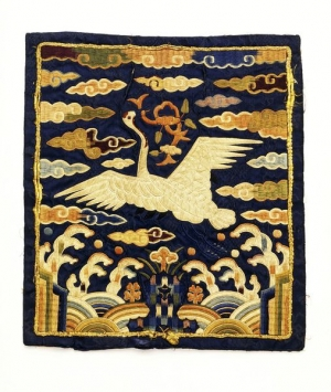 Embroidered rank badge, 17th century, Korea.