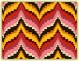 Example of a bargello / Florentine work pattern.