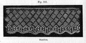 Example of Hamiton lace, late eighteenth century.