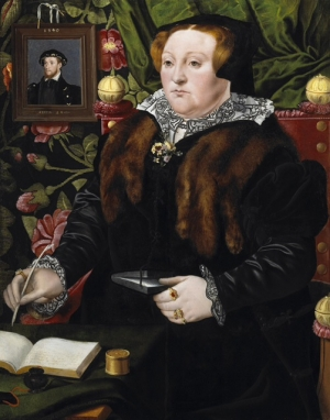 Mary Neville, Lady Dacre, by Hans Ewouts, painted c. 1555-1558.