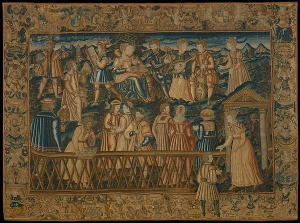 "Embroidered picture ""The Garden of False Learning"". France, second half 16th century."