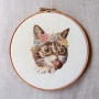 Embroidery worked by Emillie Ferris, Suffolk, England.
