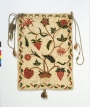 Embroidered work bag, England, 1702.. V&A T.166-1984.