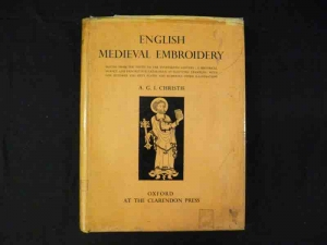 Cover of Christie's 'English Medieval Embroidery,' Oxford 1938.