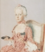 Water colour and pastel of the 7-year old Marie-Antoinette, by Jean-Étienne Liotard