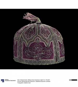 Dervish cap from Tabriz, Iran. Early 20th century or before.