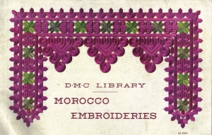Cover of a DMC booklet on Moroccan embroidery, c. 1930's