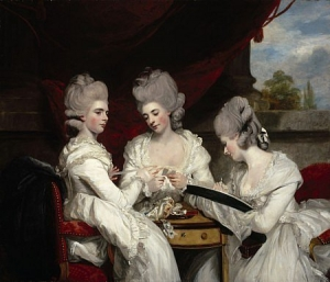 'The Ladies Walgrave', by Sir Joshua Reynolds (1723-1792), painted in 1780.