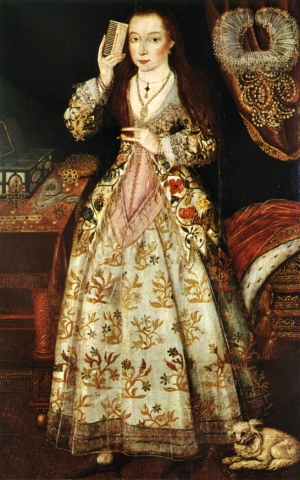 Elizabeth Wriothesley, Countess of Southampton, c. 1600. Artist unknown.