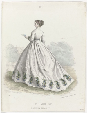 Fashion print DMC, 1866.