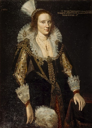 Portrait by Adam de Colone of Margaret Graham, Lady Napier (1626).