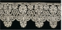 Border of mezzo punto tape lace, early 17th century, Italy, made of bobbin lace.