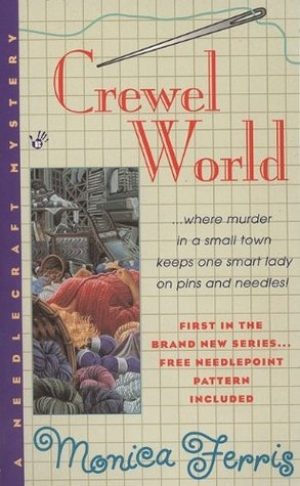 Cover of Monica Ferris's 'Crewel World', 1999.