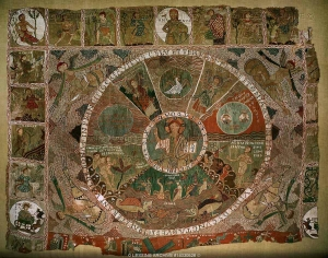 The Creation, or Girona tapestry, Spain, 11th-12th centuries.