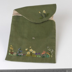 Embroidered ration book cover (1940's, Britain)