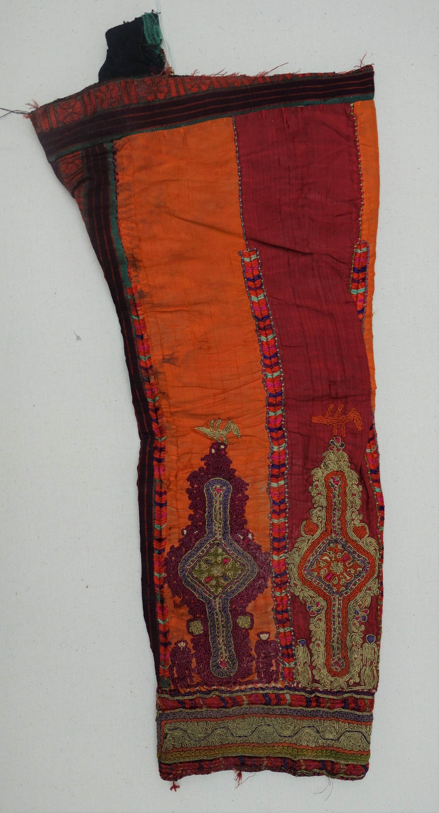 Embroidered sleeve from a Bethlehem dress, mid-20th century (TRC 2020.2137).