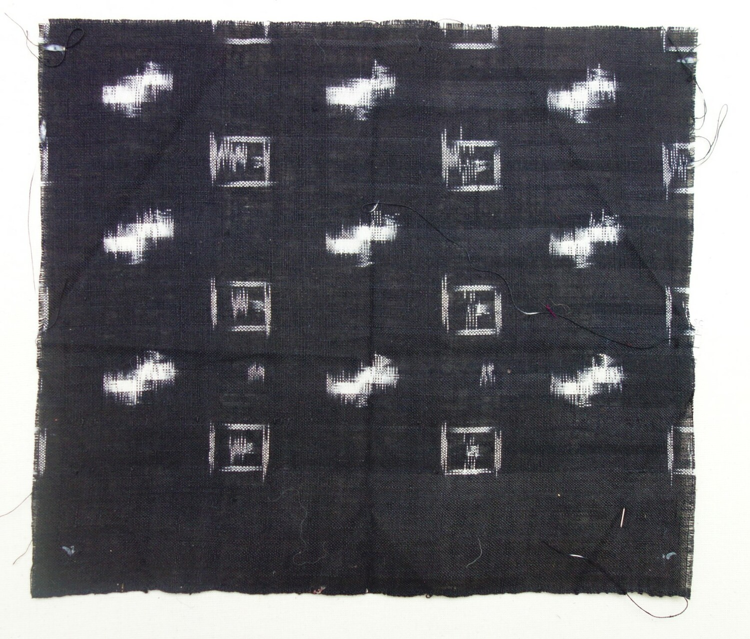 Sample of ikat cloth from India, late 20th century (TRC 2020.2755).
