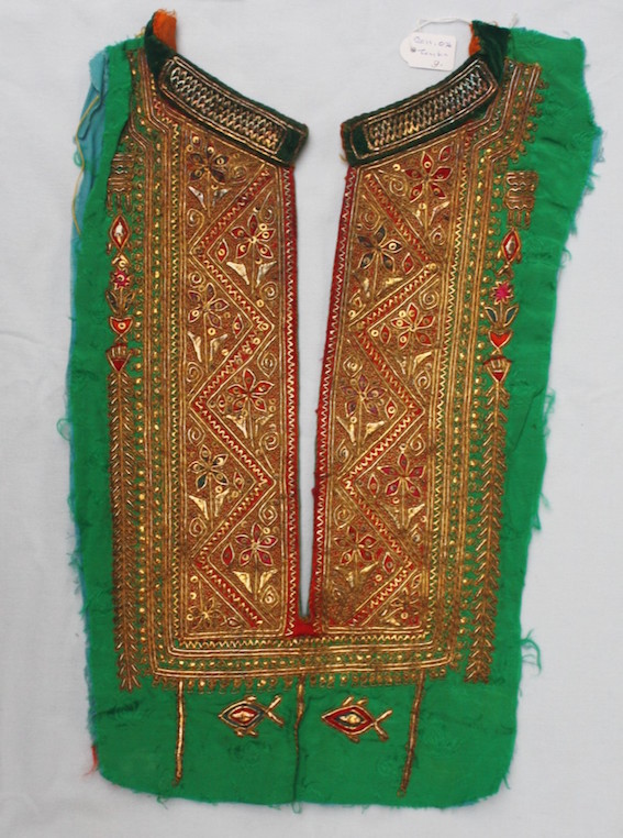 Embroidered yoke of a woman's tunic. Tunisia, 20th century. TRC 2011.0036