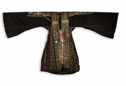 Woman's dress from Yemen. TRC 2012.0382. This dress was worn by a Bedouin woman from the north of the country.