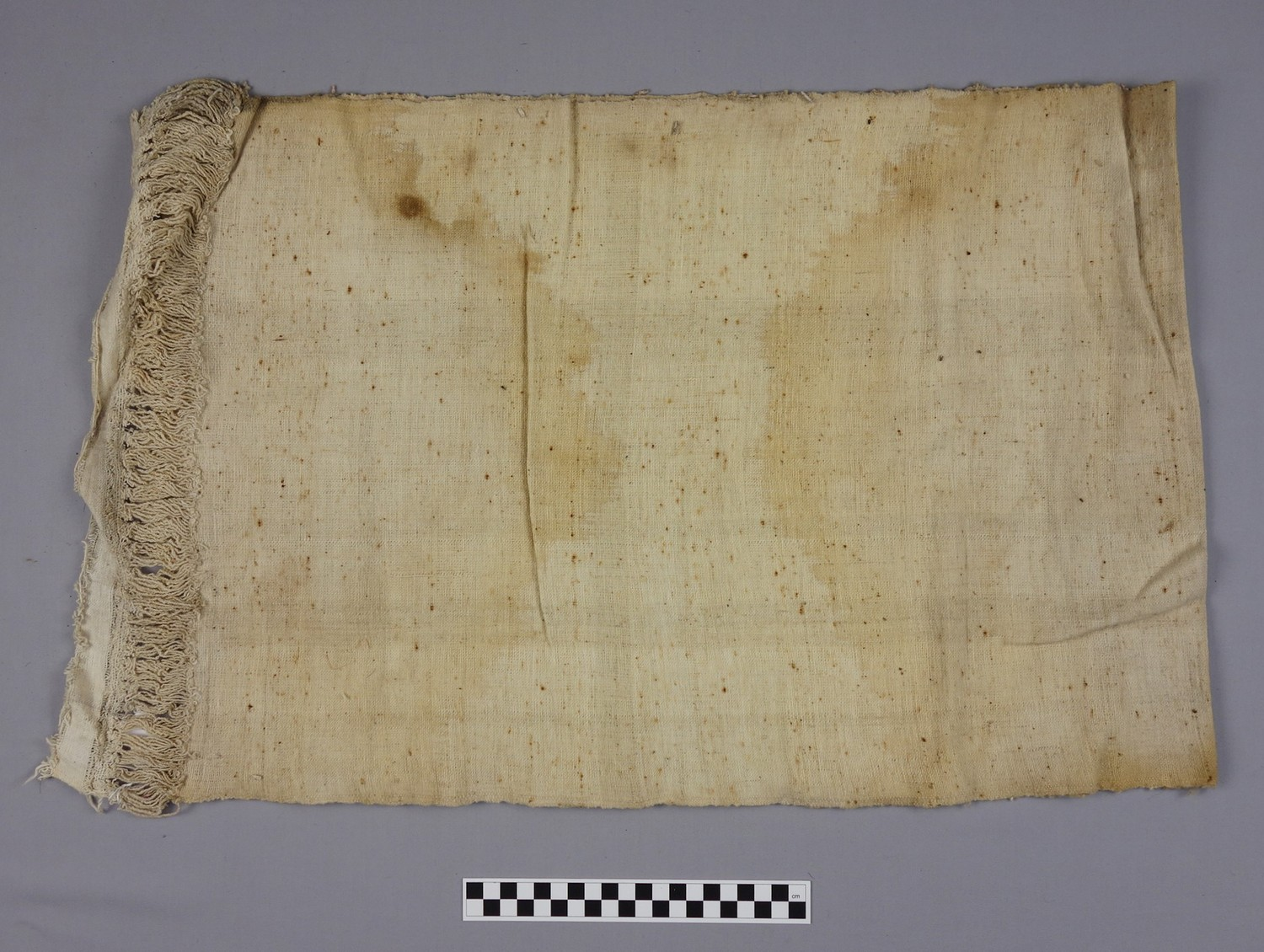 Piece of Dammur cloth from Sudan, 1920s, collected by Grace Crowfoot (TRC 2016.0034).
