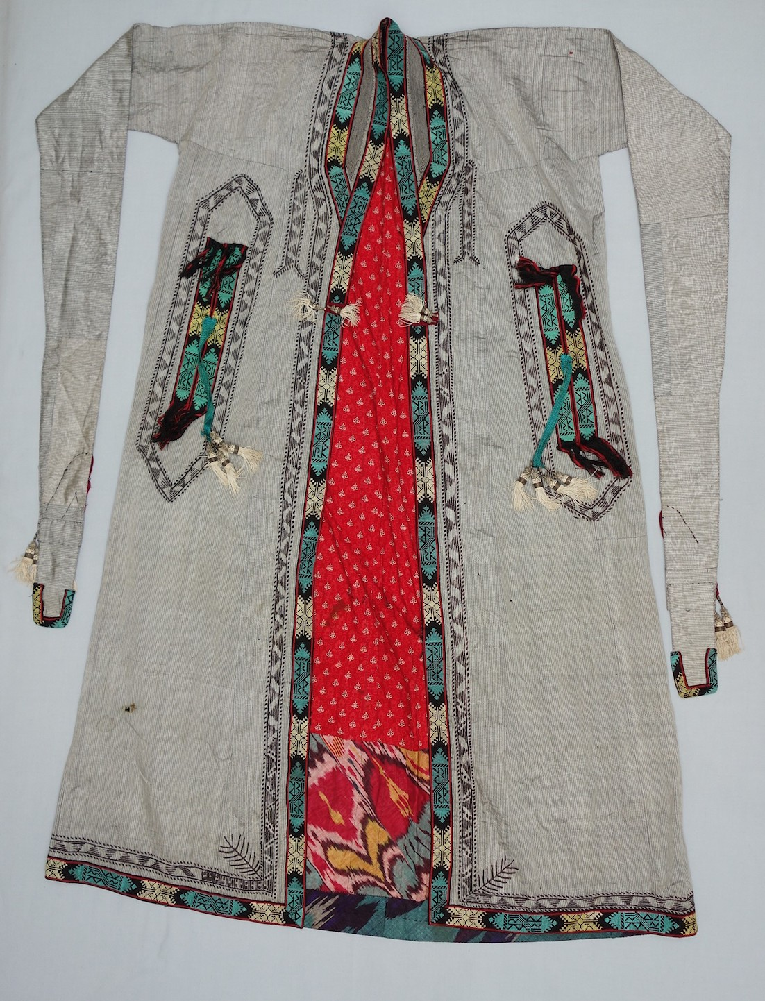 A woman's outdoor coat from Uzbekistan, donated to the TRC by David and Elizabeth Reisbord.