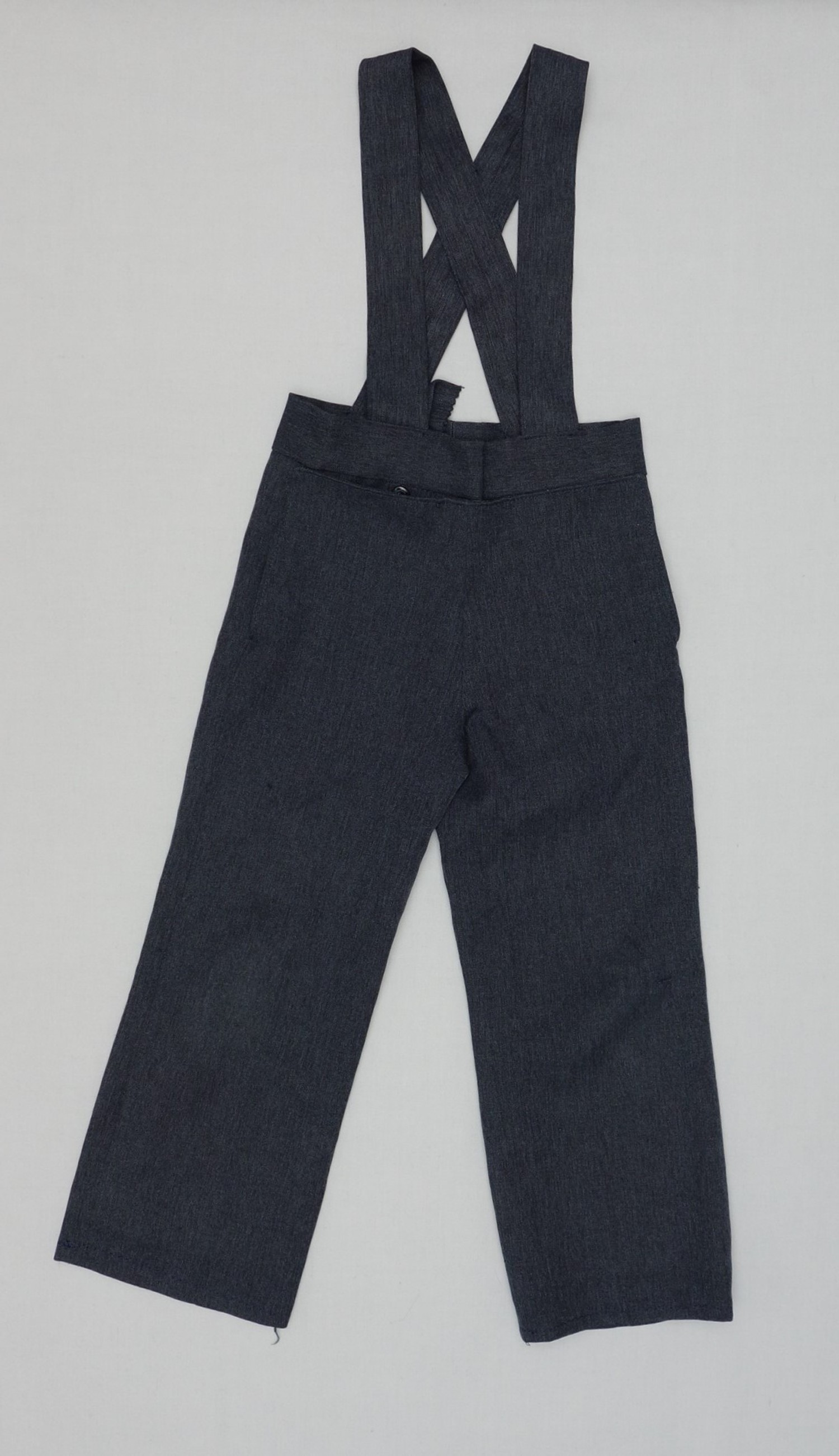 Pair of trousers for an Amish man, from Jamesport, Missouri, USA, 2017 (TRC 2017.2986).