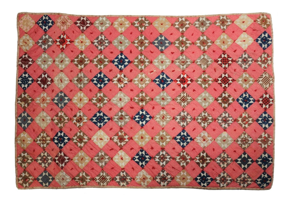 Late 19th century tied quilt, USA (TRC 2018.2378).