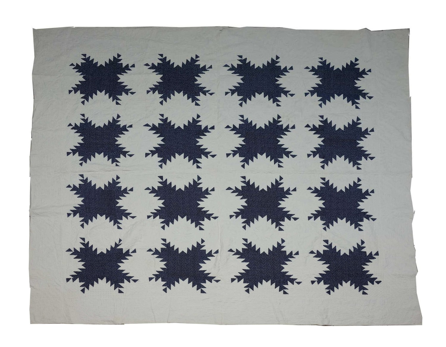 Feathered star block quilt, c. 1830, USA (TRC 2018.2630).