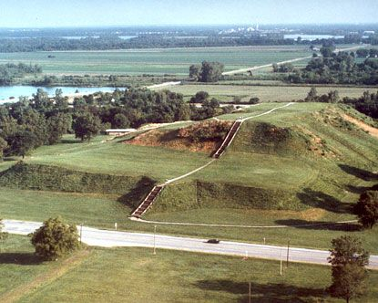 One of the Cahokia Mounds, Illinois, USA.