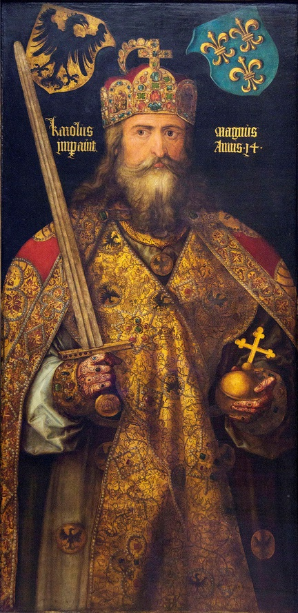 The imaginary portrait of Charlemagne, by Albrecht Dürer (1471-1528), Germanisches Nationalmuseum, Nuremberg.