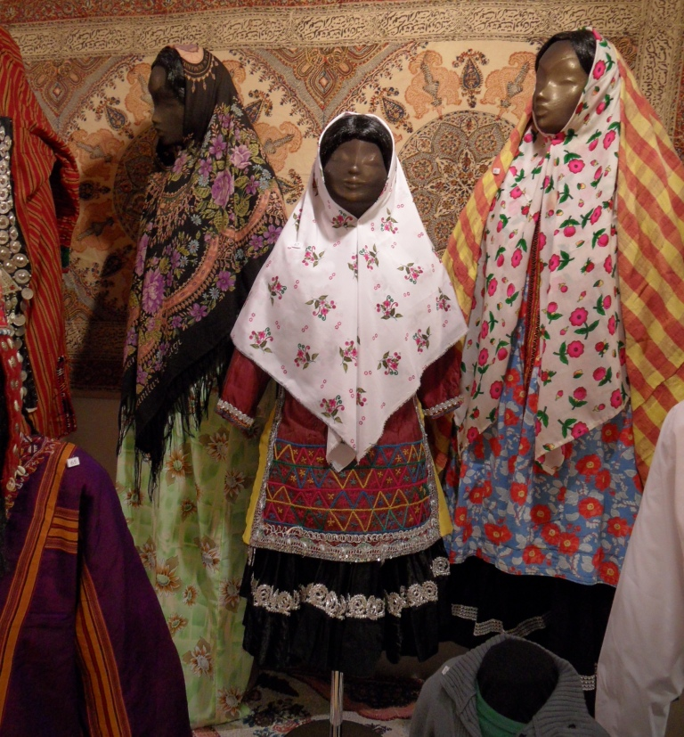 Three women's outfits from Iran