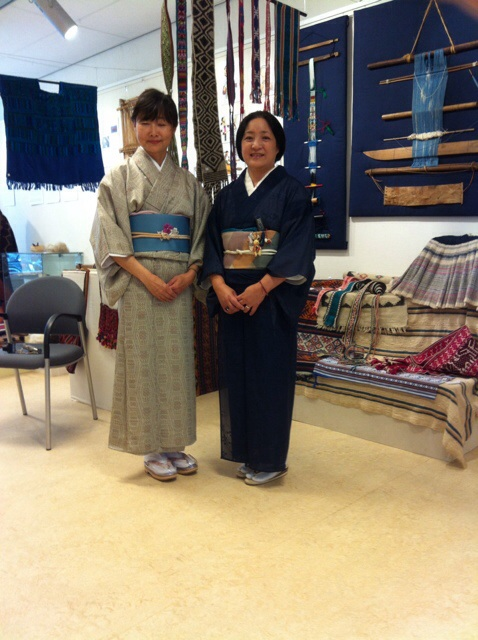 Two Japanese ladies in kimono at the TRC, September 9th 2014