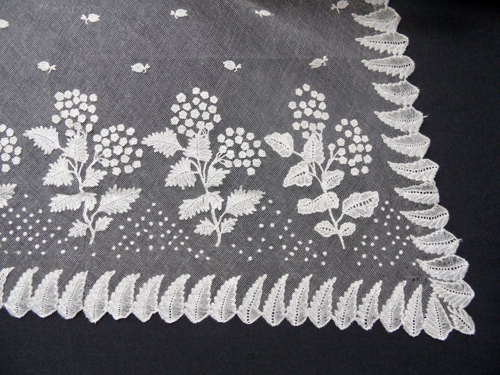 Early 19th century christening veil. TRC collection