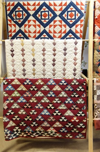 Three quilts from the early 20th century.