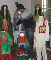 Exhibition of Afghan clothing from TRC collection, Leiden 2008