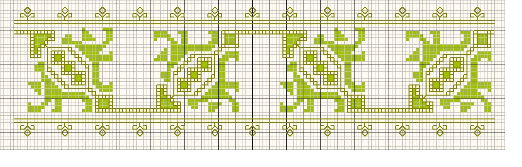 Chart for embroidery on an Hungarian/Romanian blouse. Please click the illustration for PdF file.
