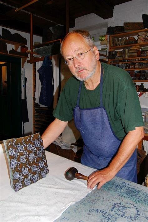 Georg Stark in his indigo workshop.