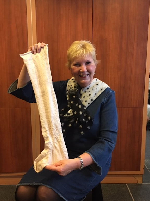 Hanneke Olsman and her stocking