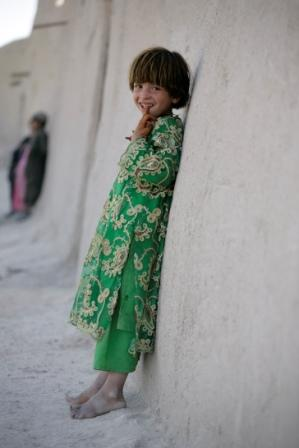 Afghan girl in traditional clothing. Photograph: Hans Stakelbeek