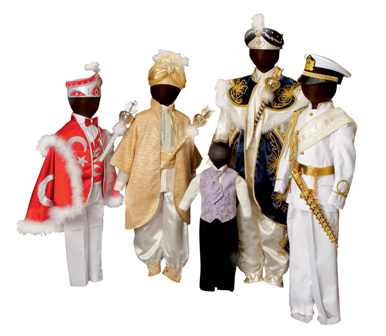 Selection of modern Turkish circumcision outfits. TRC collection. Photograph Joost Kolkman.